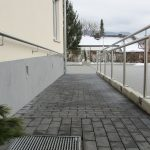 Ramp – prefabricated concrete parts with paving stones (2)