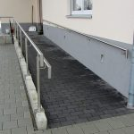 Ramp – prefabricated concrete parts with paving stones (4)