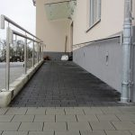 Ramp – prefabricated concrete parts with paving stones (6)