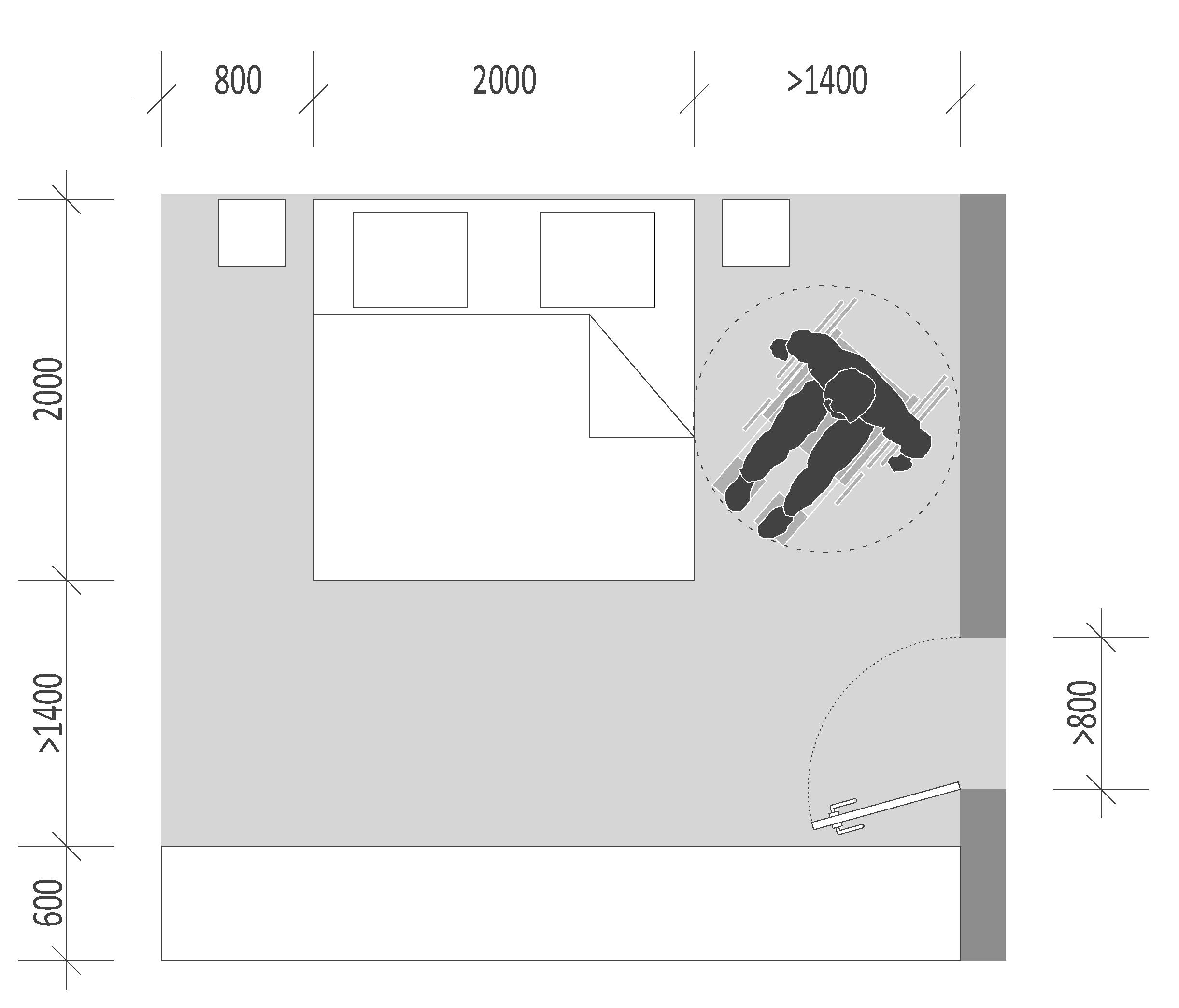 Bedroom – sleeping barrier free